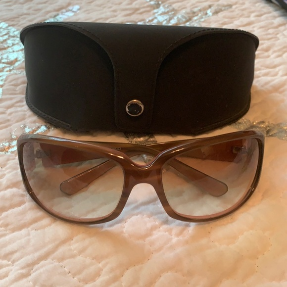 Authentic Oliver Peoples pink & olive sunglasses.
